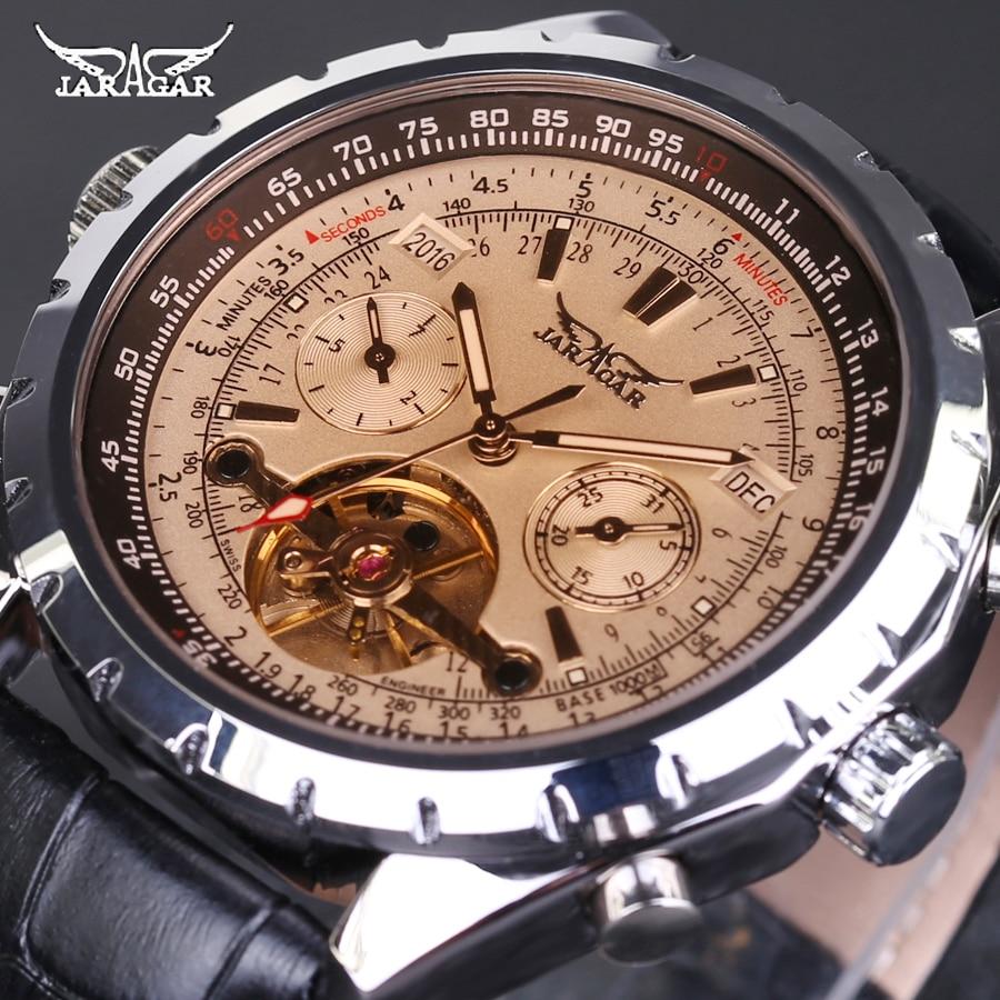 Relojes mecánicos automáticos para hombre, reloj tourbillon, reloj de pulsera de cuero informal de negocios, relojes de hombre de marca superior de lujo