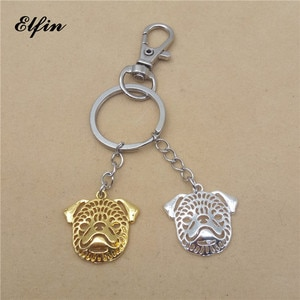 Elfin Trendy Fashion Hollow Brussels Griffon Key Chains Gold Color Silver Color Animal Pet Memorial Jewellery Dog Key Rings