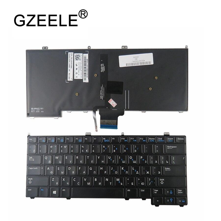 Gzeele novo para dell para latitude e7440 e7240 teclado do portátil russo com retroiluminado ru backlight teclado