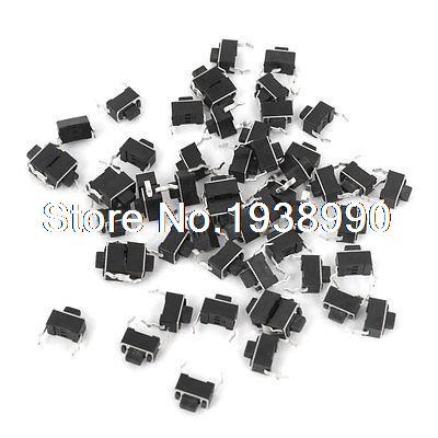55 Uds. Pulsador momentáneo PCB Interruptor táctil DIP 2 terminales 3mm x 6mm x 5mm