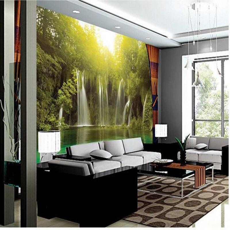 3d стереоскопические обои из Китая HD горы и вода ТВ фон обои для гостиной спальни papel де parede