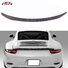 Carbon Fiber Rear Trunk Spoiler Fit For Porsche 911 Carrera 991 2012 2013 2014 2015 FRP Rear Wing V-RT Style