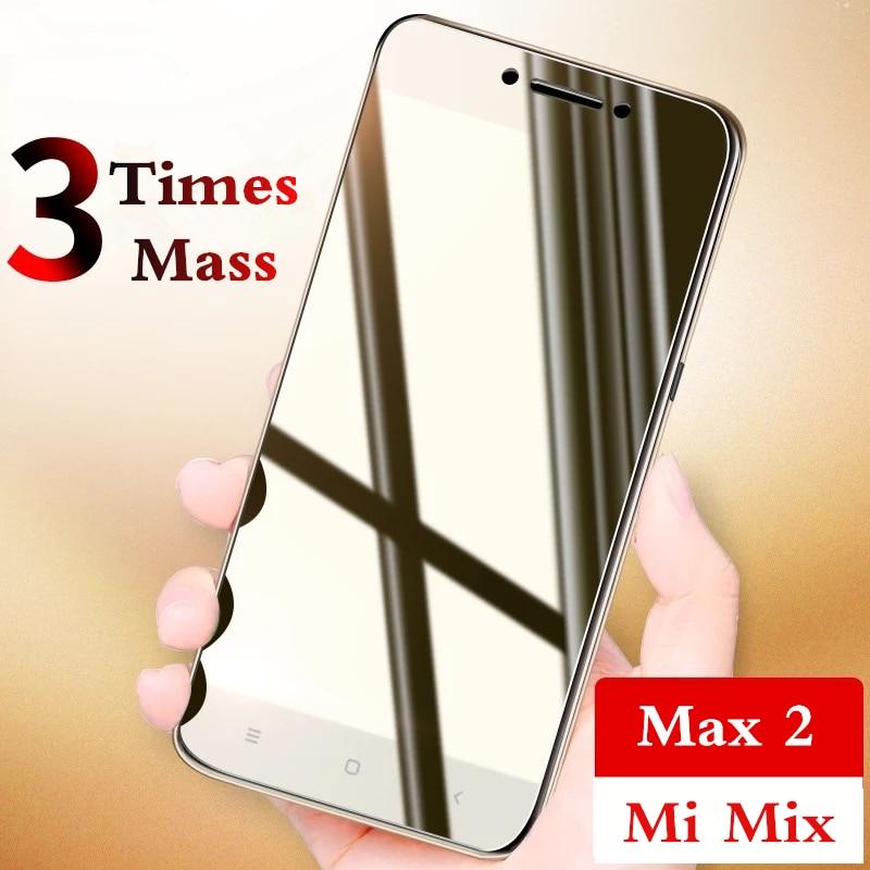 Tempered Glass For XiaoMi Mi Max 2 Mix Screen Protector 0.26mm 9H 2.5D For XiaoMi Mi Mix Max Anti Blu-ray glass protective film