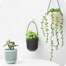 1 stück Doppel-schicht Hängen Pflanzen Halter Faul Wasser Multi-becken Kunststoff Korb Wand Blumentopf Macreme Pflanzer