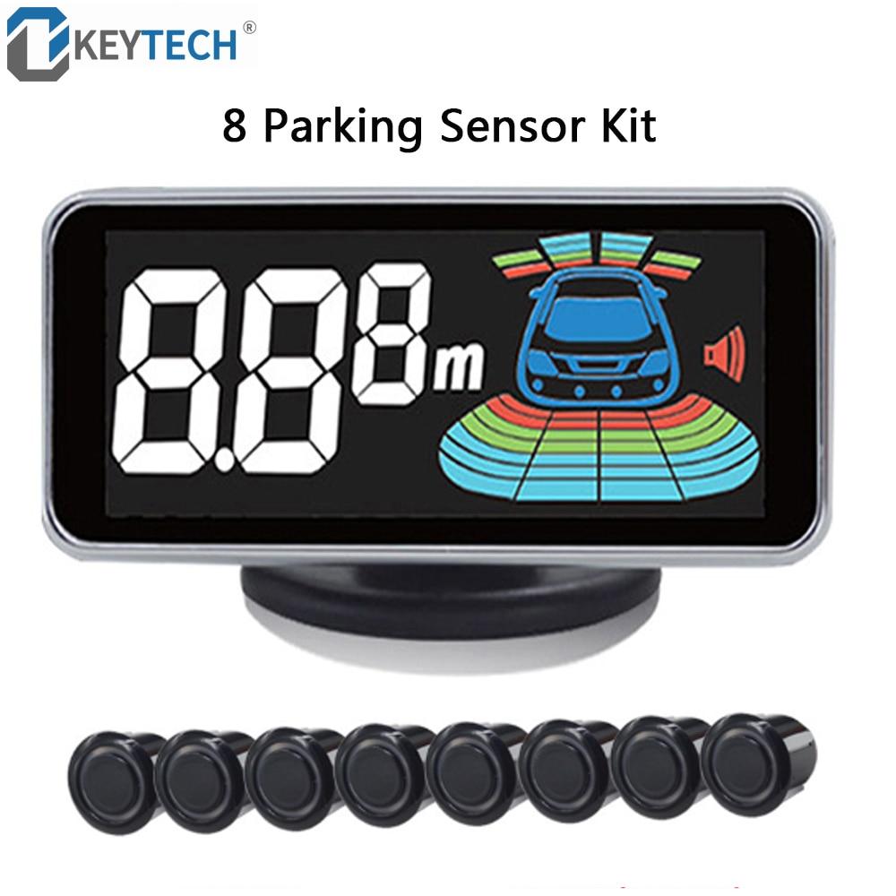 OkeyTech-مستشعر وقوف السيارات مع 8 مستشعرات ، رادار عكس السيارة ، مساعد الركن