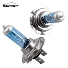 CARCHET 10 Uds 12V 100W blanco 6500k azul bombillas de cabeza de coche esponja H7 luces de coche 12V faro Universal de coche