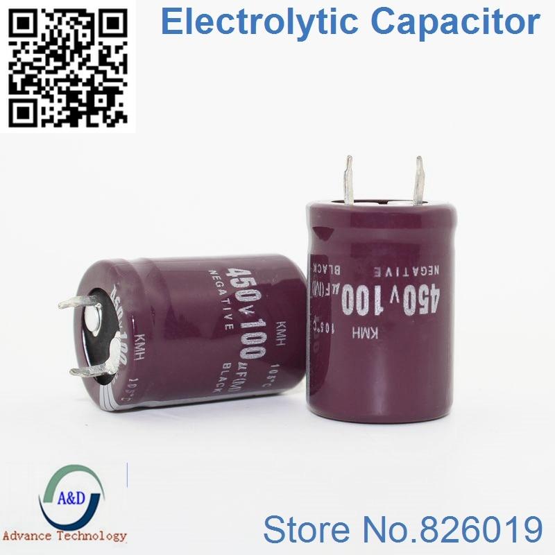 15 pçs/lote 450 V 100 UF Radial Capacitores Eletrolíticos de Alumínio DIP tamanho 22*30 100 UF 450 V Tolerância 20%
