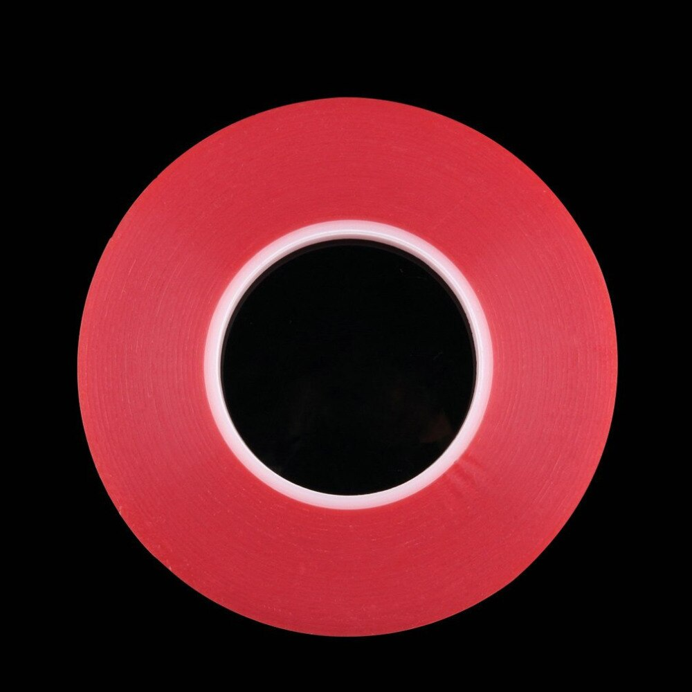 2mm 50M fuerte acrílico adhesivo película roja transparente cinta adhesiva de doble cara para teléfono móvil panel LCD reparación de pantalla Tap