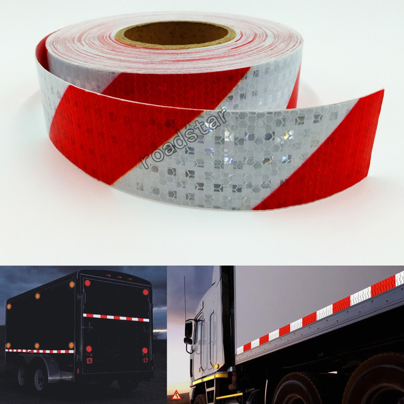 AliExpress - 5cmX25m Reflective Tape Stickers Auto Truck Pickup Safety Reflective Material Film Warning Tape Car Styling Decoration