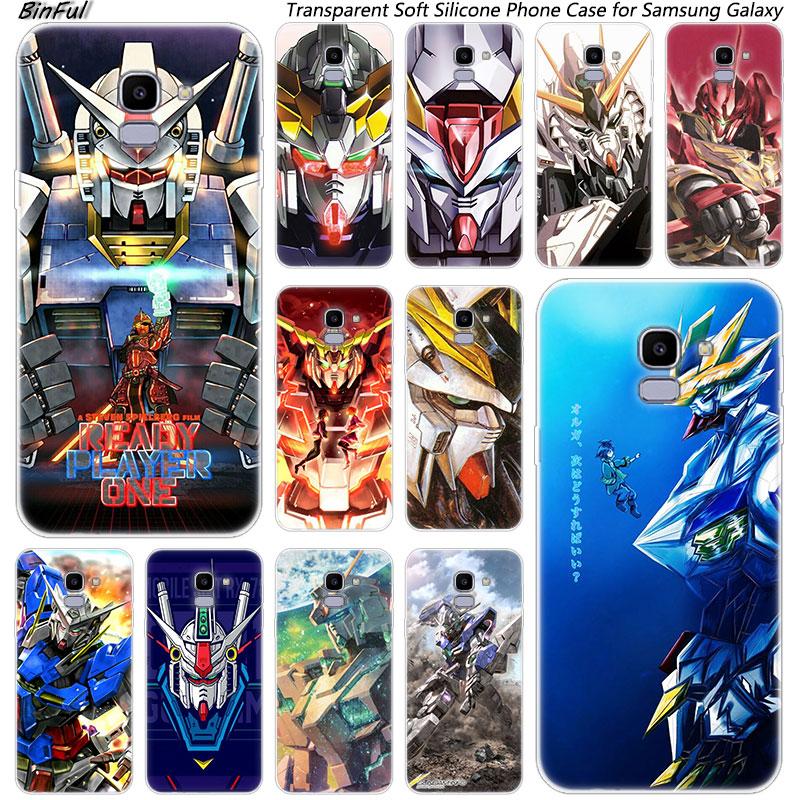 Heißer Gundam Anime Weichen Silikon Telefon Fall Für Samsung Galaxy J8 J6 J4 2018 J2 Core J5 J6 J7 Prime j3 2016 2017 EU J4 Plus Abdeckung