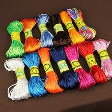 20 Meter 2MM Nylon Cord Thread Soft Satin Chinese Knot Macrame Cord Bracelet Braided String DIY Tassels Beading String Thread