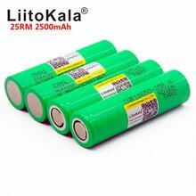 100PCS liitokala 18650 2500mah 리튬 배터리 25R INR1865025RM 20A 배터리