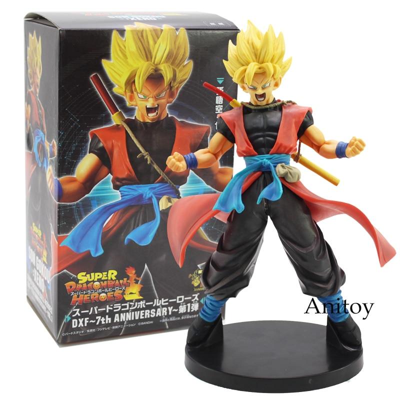 Dragon Ball superhéroes DXF 7 ° aniversario Son Goku/Saiyan hombres Avatar Dragon-Ball PVC figura modelo coleccionable juguete