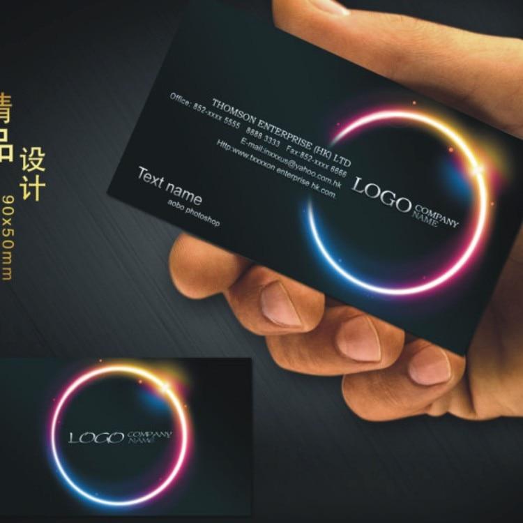 Черная визитная карточка на заказ, бесплатный дизайн и полноцветная двусторонняя печать, персонализированные визитные карточки на заказ
