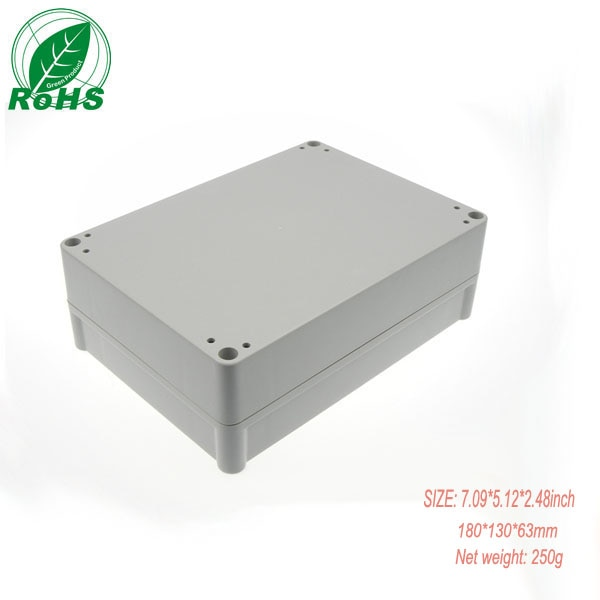 Carcasas de plástico a prueba de agua, carcasas de paneles de plástico, carcasas de caja de conexiones, cubiertas de 180x130x63mm, 1 unids/lote