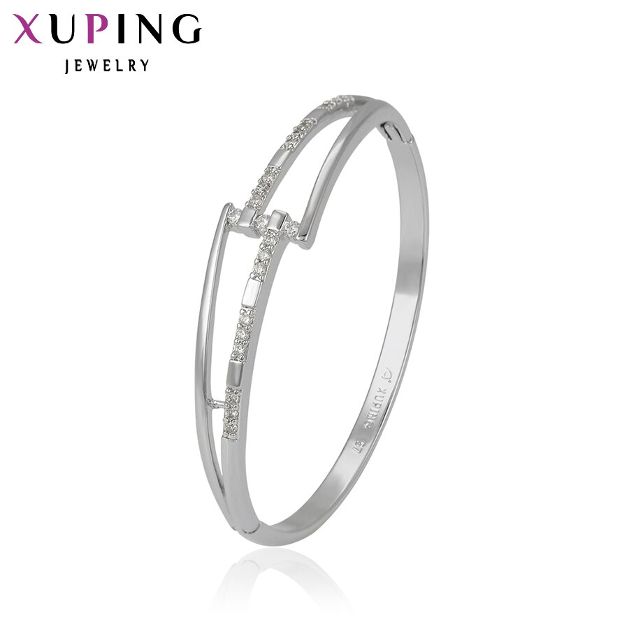 Xuping יוקרה צמיד חדש הגעה קסם עיצוב סינטטי מעוקב Zirconia תכשיטי עבור בנות באיכות גבוהה מתנה 51287