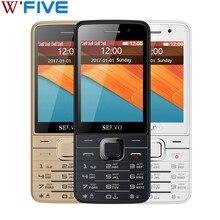 Original Telefon Quad SIM Karten SERVO V9500 2,8 zoll 4 sim-karten 4 standby GPRS Bluetooth vibration Russische tastatur Mobile handys