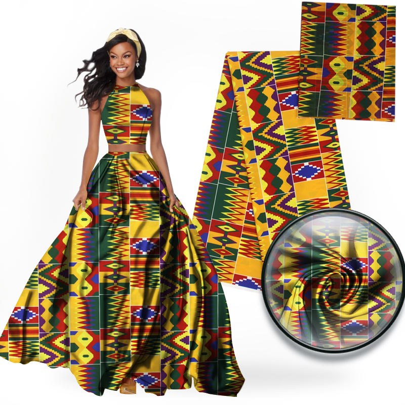 imitated silk fabric african print fabric 6yard per lot african fabric wholesale nigerian ankara fabrics 2018 africain tissu wax