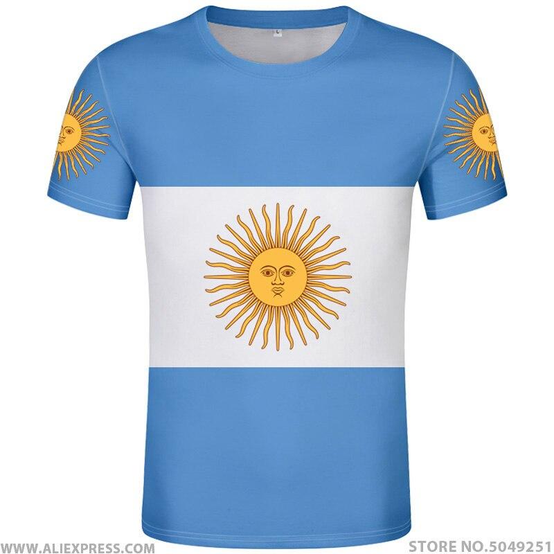 Camisa de argentina t livre nome personalizado número arg país ginásios camiseta ar bandeira espanhol argentina nação imprimir texto diy foto roupas