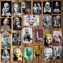 [Mike86] Marilyn Monroe dövme tabancası seksi komik tabela otel Pub Vintage duvar pas boyama sanat posterleri sanat 20*30 CM LT-1743