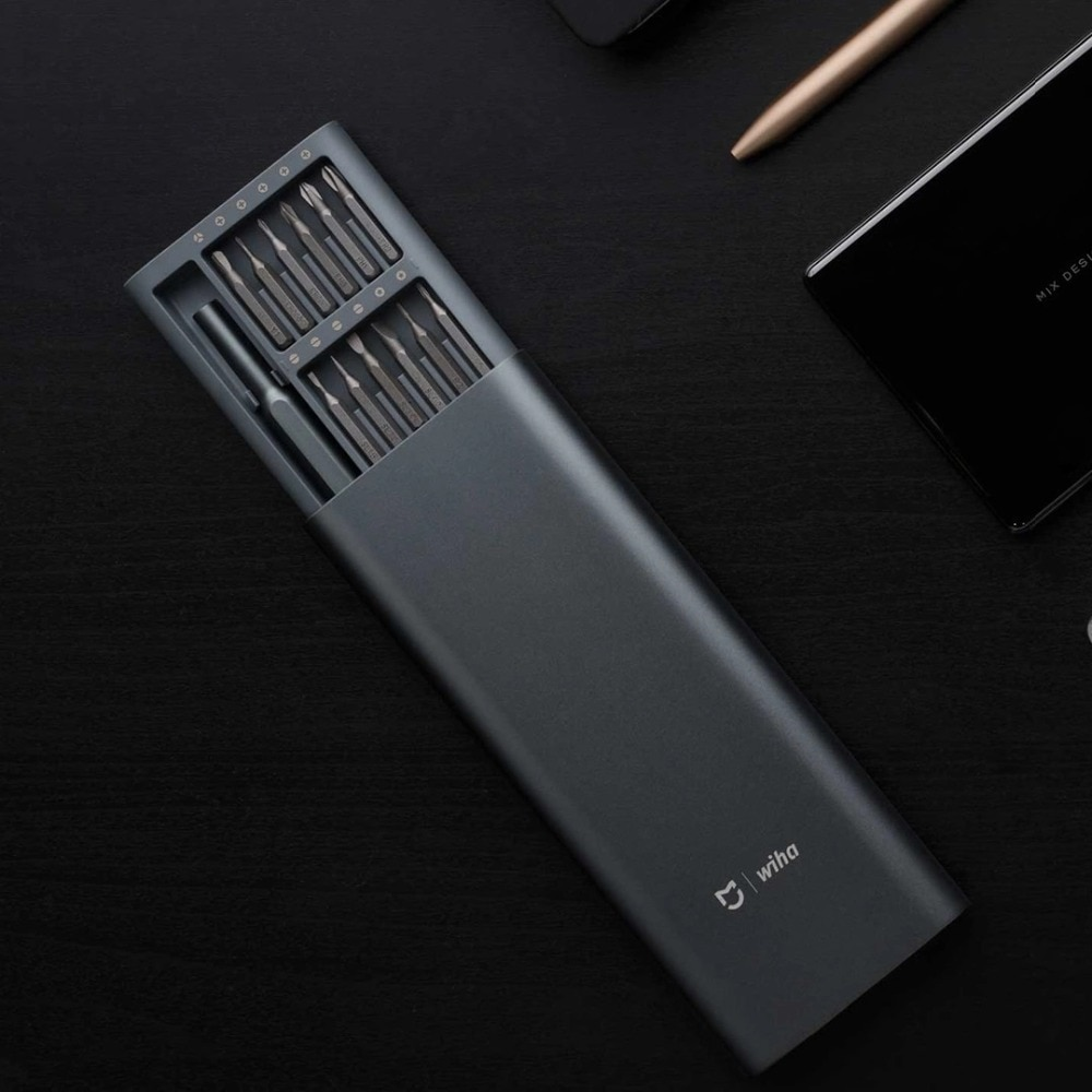 En Stock 2020 Xiaomi Mijia Wiha uso diario tornillo conductor Kit 24 precisión Bits magnéticos de aluminio caja de Wiha bricolaje tornillo conductor conjunto