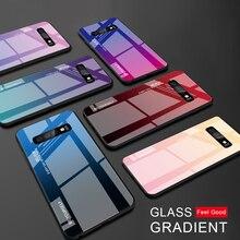 Caja de Color para Samsung Galaxy S10 S10e A9 A7 A8 A6 Plus 2018 A7 A5 2017 J8 J4 J6 más S9 S8 Plus Nota 8 9 S cubierta de vidrio templado