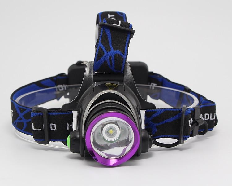Anjoet alto poder XML T6 LED impermeable faro foco de la antorcha cabeza caza linterna Camping pesca luz al aire libre 3 modos