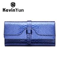 kevin yun luxury fashion women wallets long patent leather wallet purse lady clutch serpentine