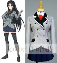 Shimoneta A Boring World Where the Concept of Dirty Jokes Doesnt Exist Ayame Kajou Blue Snow Cosplay Costume