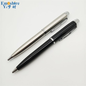 Top Quality Creative Gifts Pen Metal Black Signature Pen Advertising Stainless Steel Ballpoint Pen for Writing Supplies P155