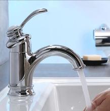 chrome  high quality brass single lever bathroom sink faucet basin faucet