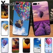 Yinuoda ballon à air chaud coucher de soleil ciel haut nouvelle haute qualité Multi couleurs étui pour iphone 7plus 6S 7 8 8Plus X 5S 11pro étui