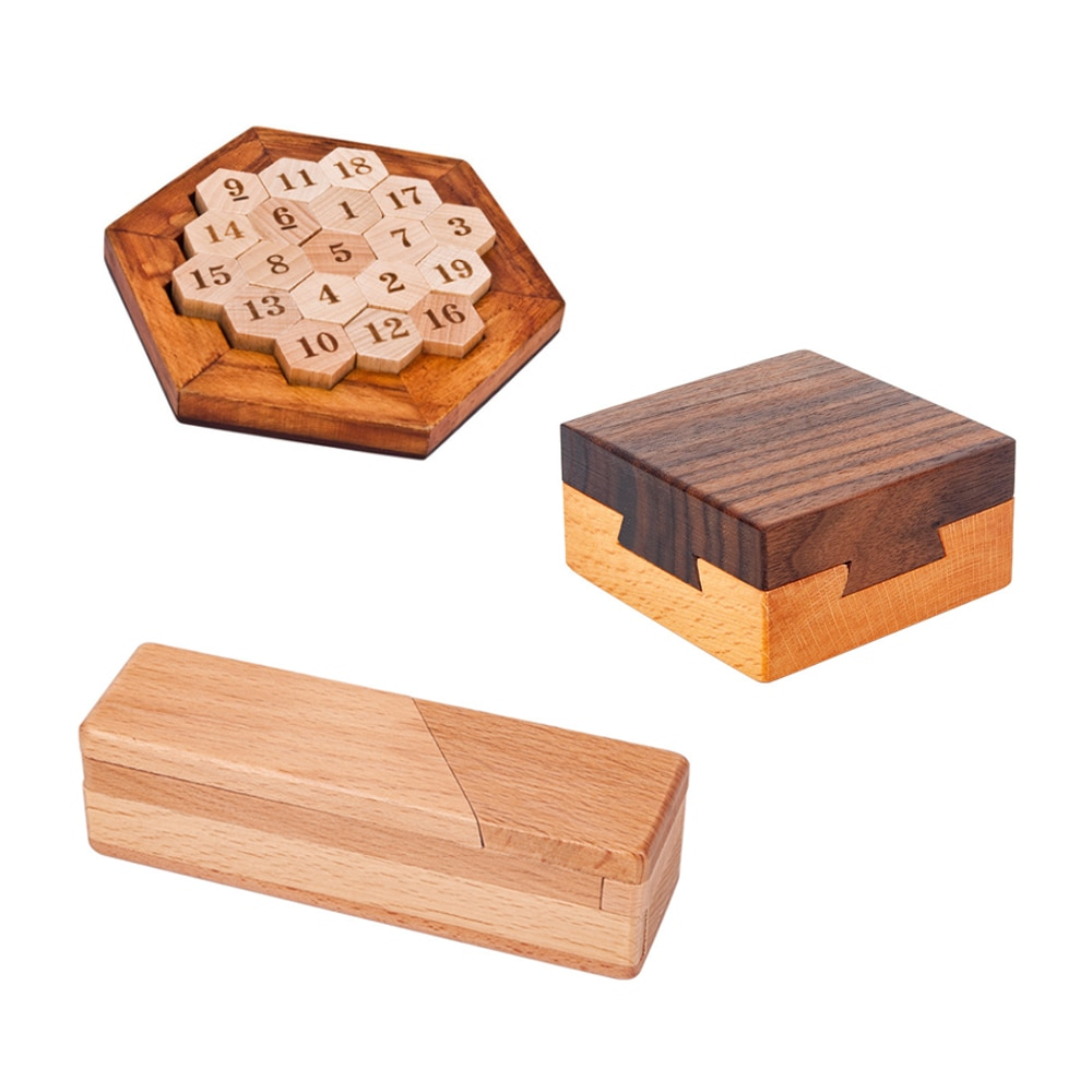 Brain Teaser Mysterious treasure box Puzzles Game Toy For Adults Kids Anti-Stress Reliever Toys E22