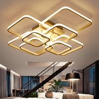 Modern Square LED Ceiling Light Aluminum Simple Indoor Ceiling Lamp Lampe Plafond Avize for Bedroom Living Room Dining Room