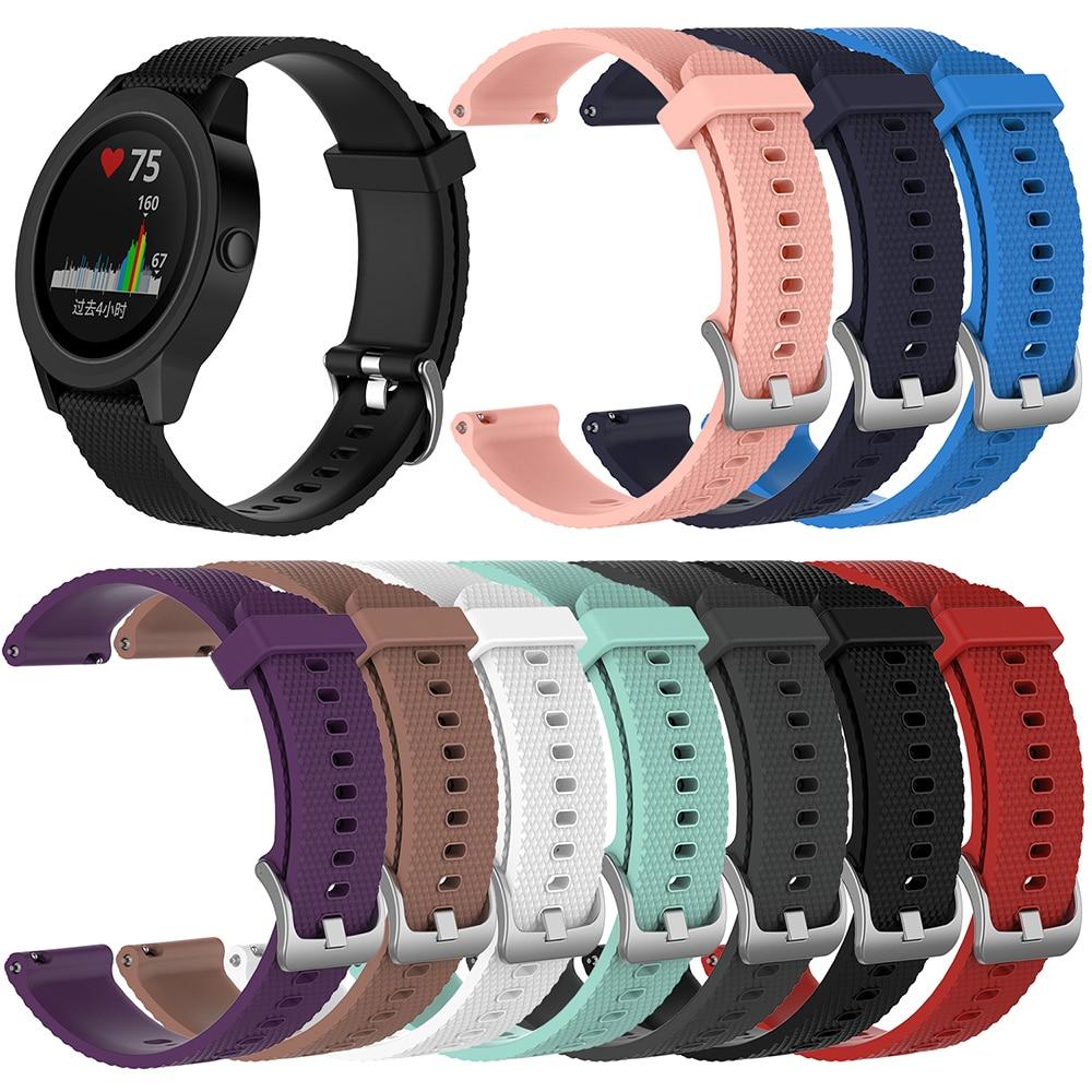Correa de silicona de repuesto para Samsung Gear Sport S2 Classic para Huawei Watch 2 para Garmin Vivoactive 3