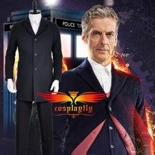Doctor Who The Twelveth 12th Doctor Peter Capaldi Uniform Jacket Coat Shirt Vest Pants Suits For Adult Men Male Cosplay Costume