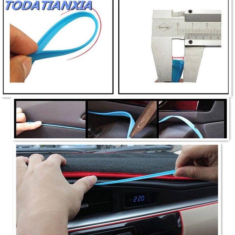Moldura decorativa para coche de 5 M, tiras de decoración de bordes para solaris 2017 suzuki sx4 nissan x-trail t31 jetta 6 ford focus honda