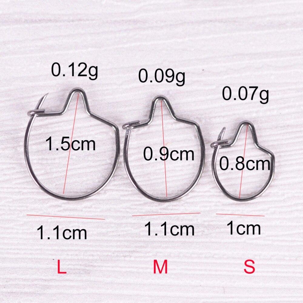 20 шт S/M/L Серебряный тупой наконечник для ловли карпа, зажим для приманки, кольцо, крючок