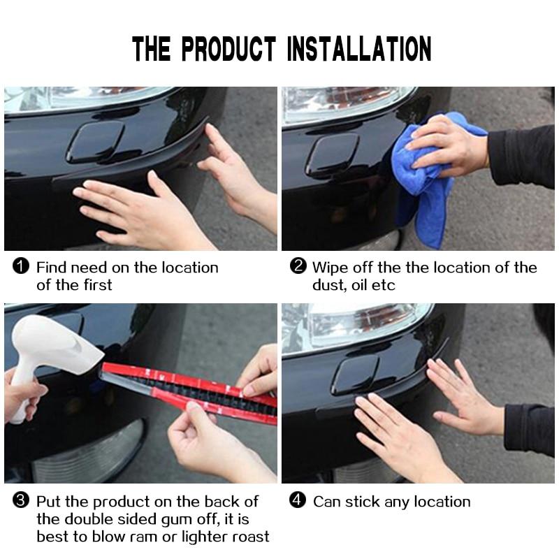 4pcs Auto Car Bumper Anti-collision Guard Protector Buffer Trim Molding Protection Strip Scratch bump Crash Bar Styling Moulding