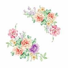 Autocollant mural en fleurs de pivoine   Décoration de maison, pour toilettes, salle de bain, cuisine, toilettes, réfrigérateur, nouvelle collection 2018