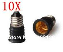 10pcs E11-E12 LED socket adapter Lamp Holder adapter lamp base Socket Converter Free Shipping With Tracking No.