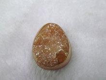 high quality 20-35mm 12pcs freeform nuggets genuine crystal druzy quartz titanium peach red focal pendant cabachons jewelry bead