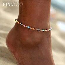 Богемные цветные турецкие глаза ножные браслеты для женщин золотистого цвета с бусинами летние пляжные браслеты на лодыжке для ног украшения для ног 2019