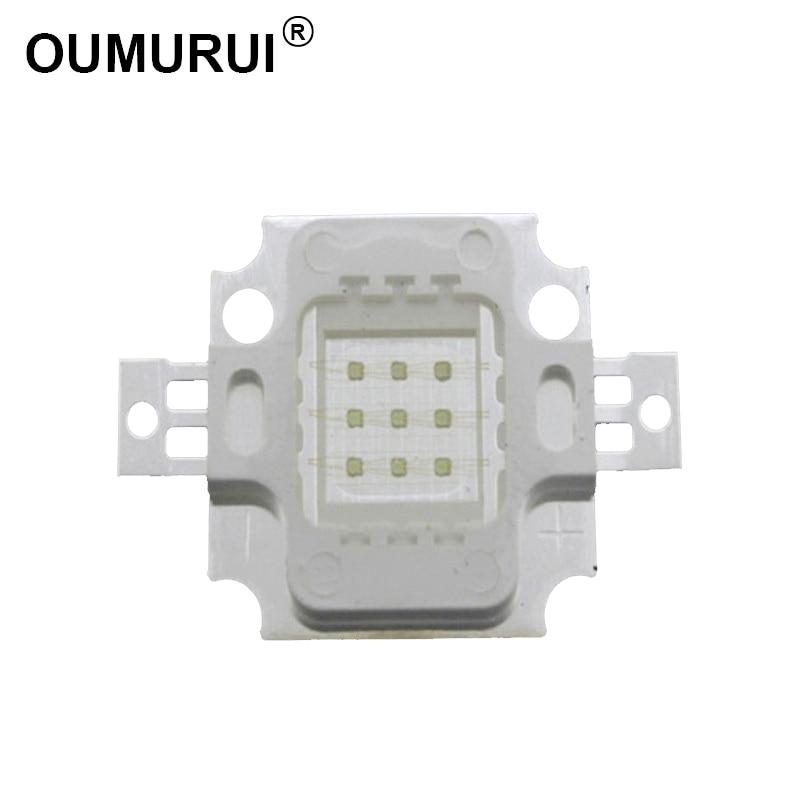 10 Uds 10W COB LED de alta potencia LED verde 520-525nm 900mA 9-12,0 V 600-700LM 30 * 30mil envío gratis de chips
