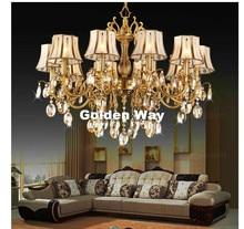 Livraison gratuite! Lustre en cristal, éclairage de Lustre en laiton, matériau Bronze, K9, éclairage de Lustre en cristal, luxueux en laiton, Suspension de Lustre