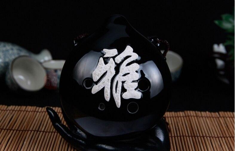 6 agujeros Ocarina Alto F/AF cerámica china instrumentos musicales flauta Decoración