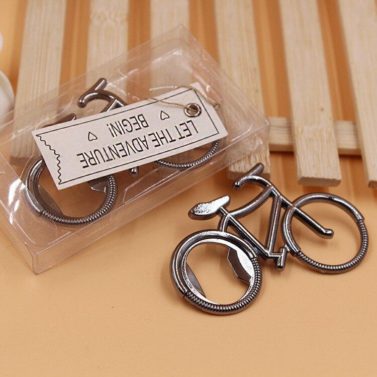 Свадебные сувениры для гостей 200 шт./лот велосипед; открывалка для бутылок сувениры на день рождения для детей велосипед открывалка для вина...