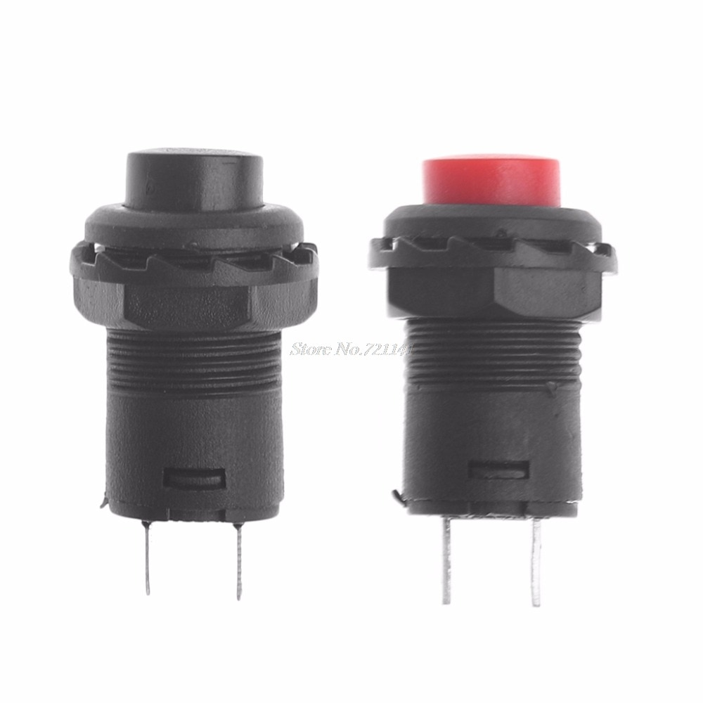 5Pcs/Set Mini DS-425A Self-Locking SPST Push Button Switch 1.5A 250V/3A 125V Button Switch Dropship