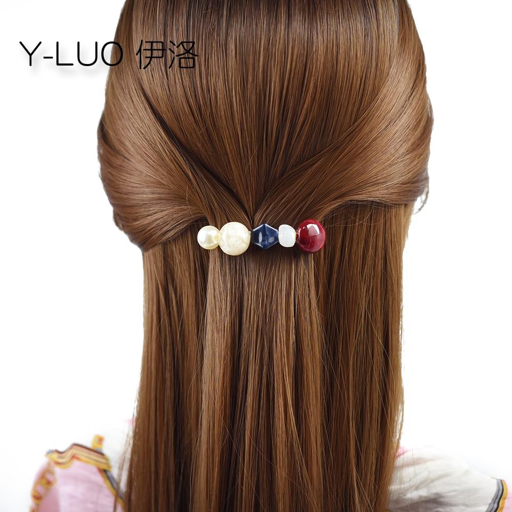 Sombreros de moda para mujeres lindas pinzas para el cabello para niñas pequeños pasadores para el cabello cuentas accesorios de pelo vintage para mujeres