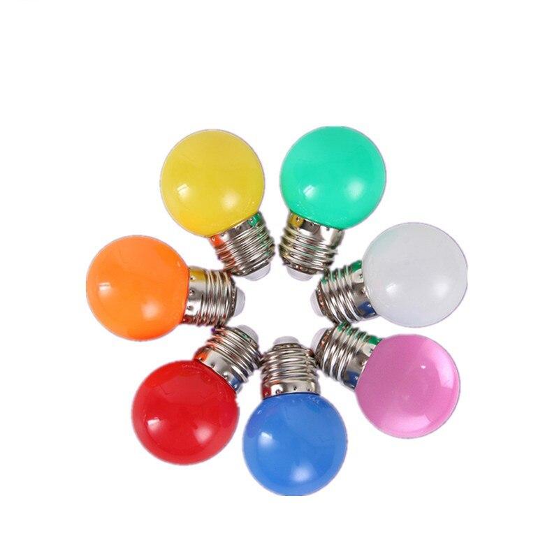 Bombillas de bombilla Led para lámpara E27 B22 GU10 E14 lámpara colorida RGB Led SMD 2835 220V G45 decoración del hogar